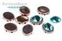 OvalDuo Antique Copper 10 pack OvalDuo for Oval Flatbacks 6x8mm