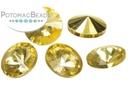 Potomac Crystal Rivoli - Apricot Metallic Ice 10mm (pack of 25)