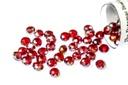 Potomac Crystal Rondelle Beads - Garnet AB 2x3mm