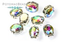Potomac Crystal Ovals in Settings - Crystal AB 6x8mm