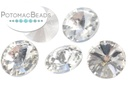 Potomac Crystal Rivoli - Crystal Silver Foiled 10mm Pack of 5