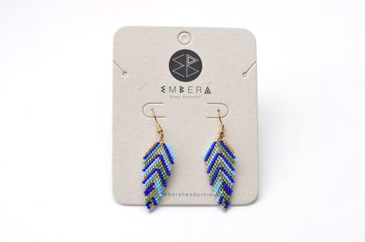 [126] Embera Earrings - Lora Azul