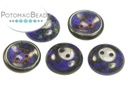 Cup Buttons - Dark Blue Travertine (30 pack)