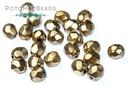 Czech Faceted Round Beads - Metallic Mauve 3mm