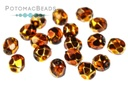 Czech Faceted Round Beads - Topaz Metallic Ice 4mm