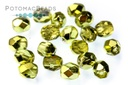 Czech Faceted Round Beads - Lime Metallic Ice 4mm