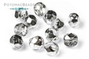 Czech Faceted Round Beads - Crystal Labrador 6mm