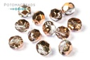 Czech Faceted Round Beads - Crystal Capri Gold 6mm