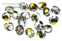 Czech Faceted Round Beads - Crystal Marea 4mm