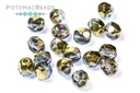 Czech Faceted Round Beads - Crystal Golden Rainbow 4mm