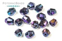 Czech Bicones 5mm Blue Iris