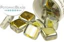 Czech 2-Hole Tile Beads - Crystal Marea (closeout)