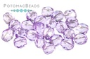 Czech Faceted Round - Crystal Lavender Luster 4mm
