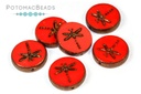 Dragonfly Beads - Opaque Red Bronze
