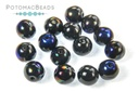RounDuo Beads - Jet Azuro (Pack of ~75) 5mm
