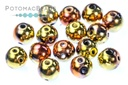 RounDuo Beads - Jet California Gold Rush (Pack of ~75) 5mm (closeout)