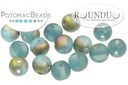 RounDuo Beads - Aqua Vitrail Matted (Factory Pack of 600) 5mm (closeout)