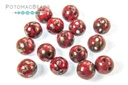 RounDuo Beads - Opaque Red Picasso (Pack of 75) 5mm