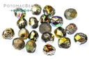 Czech Faceted Round Beads - Etched Vitrail Full 4mm