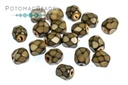 Czech Faceted Round Beads - Snake Sand 4mm