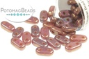 2-Hole Bar Beads - Bronze Berry Oxidized 2x6mm