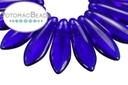 2-Hole Dagger Beads - Cobalt 5x16mm