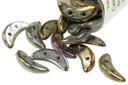 Crescent Beads - Brown Iris 3x10mm