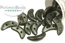 Crescent Beads - Dark Forest Metallic Suede 3x10mm