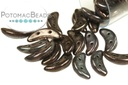 Crescent Beads - Metallic Amethyst Luster 3x10mm