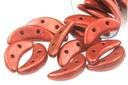 Crescent Beads - Metallic Lava 3x10mm