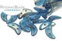 Crescent Beads - Capri Blue Luster Iris 3x10mm