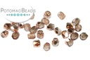 Czech Faceted Round Beads - Crystal Capri Gold 2mm