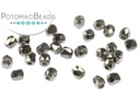 Czech Faceted Round Beads - Crystal Full Chrome 2mm