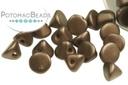 Button Bead - Pastel Dark Brown 4mm