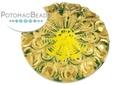 Czech Cabochon - Gold Green 28mm