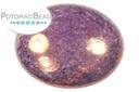 Czech Cabochon - Purple Lumi 24mm