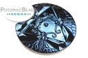 Czech Cabochon - Dragonfly Dance Azuro Design 30mm
