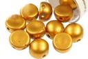 2-Hole Cabochon Beads 6mm - Metallic Brass