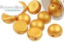 2-Hole Cabochon Beads 6mm - Metallic Gold