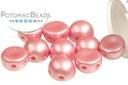 2-Hole Cabochon Beads 6mm - Pastel Pink