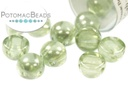 2-Hole Cabochon Beads 6mm - Crystal Mint Luster