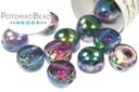 2-Hole Cabochon Beads 6mm - Crystal Magic Blue