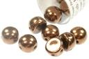 2-Hole Cabochon Beads 6mm - Jet Bronze