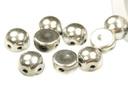 2-Hole Cabochon Beads 6mm - Jet Full Labrador