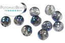 RounTrio Beads - Crystal Blue Flare Full (Factory Pack) 6mm