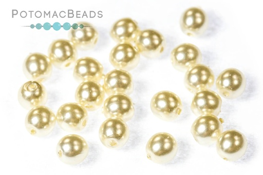 MARGUERITES VERRE CZECH 18mm Pearls Czech Pearls Bohemia Glass Pearls Opalescent Flowers Ivory and Gold 2 Pcs