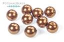 Czech Pearls - Bold Copper Shiny 8mm