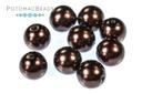 Czech Pearls - Dark Sienna 8mm