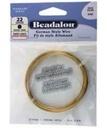 Beadalon Half Hard Wire 20g Gold