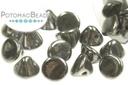 Button Bead - Jet Hematite 4mm